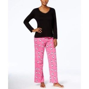 Charter Club Flannel Printed PJ Set Medium